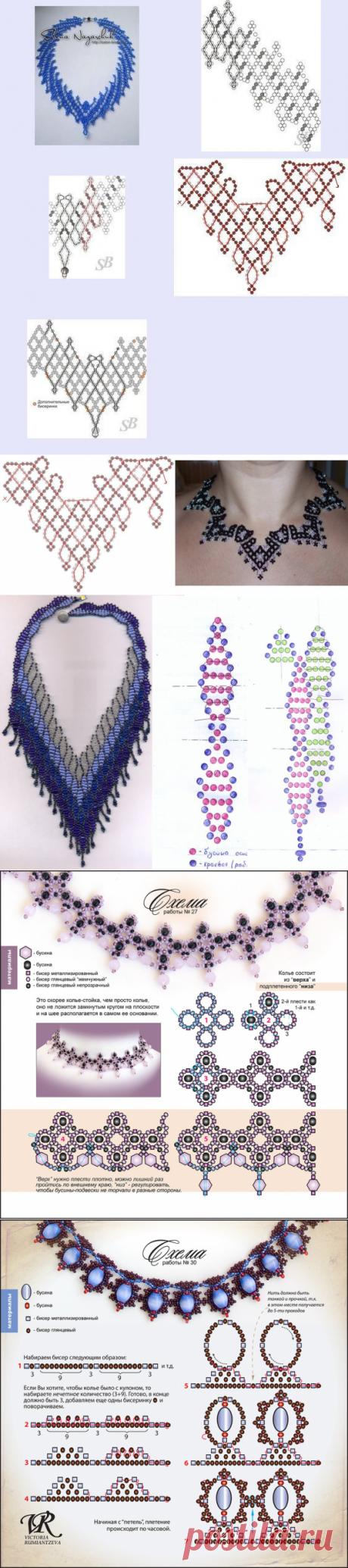 Колье и ожерелье из бисера — Сделай сам, идеи для творчества - DIY Ideas