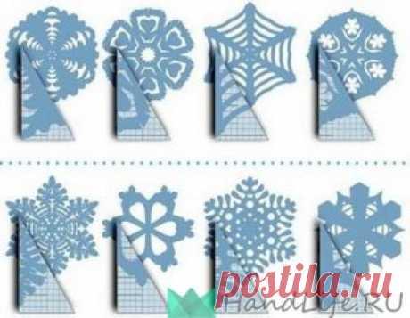 МК Снежинка из бумаги (видео)
