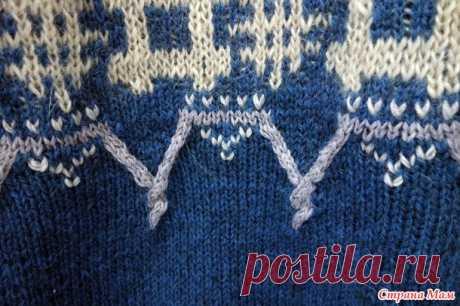 Мужской пуловер (очередной)) - первая работа в 2020 г. - Вязание - Страна Мам