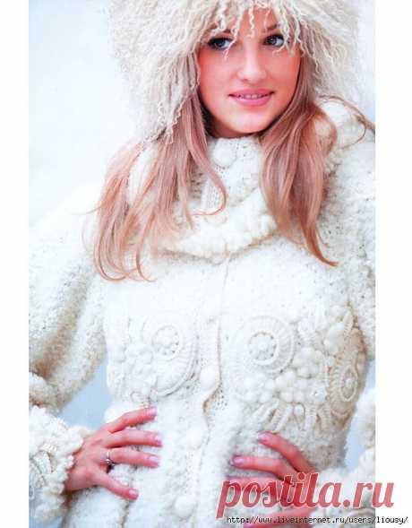Вязаное пальто от Светланы Абрамочкиной.