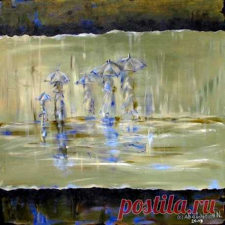 Художник, что рисует дождь: Очарование осени на картинах эмигрантки-петербурженки