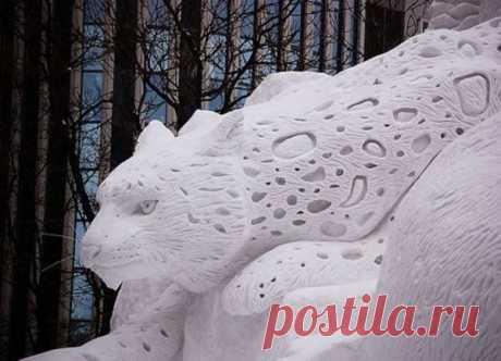 Снежные скульптуры, от которых перехватывает дух!
