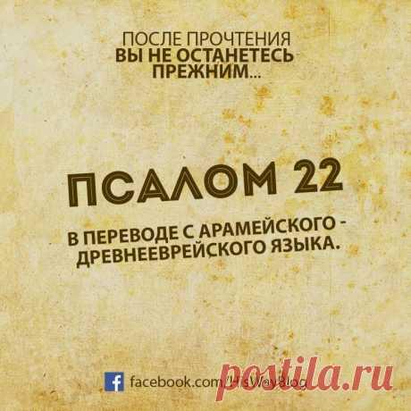 El SALMO 22: después de la lectura no os quedaréis anterior...