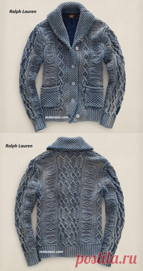 Вязаный жакет для мужчин от Ralph Lauren | Вяжем с Лана Ви