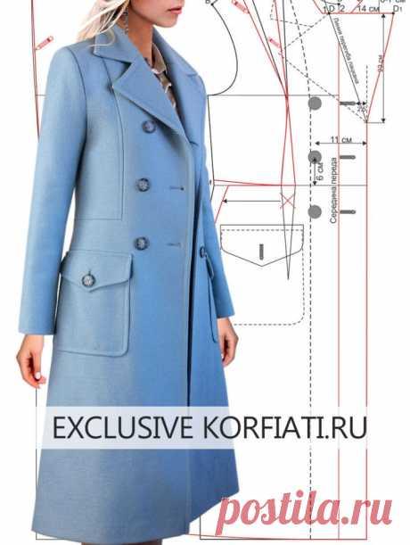 Как сшить пальто - советы Анастасии Корфиати Как сшить пальто: строим выкройку и шьем пальто по разработанным мастер-классам. Пошаговая технология пошива женского демисезонного пальто!