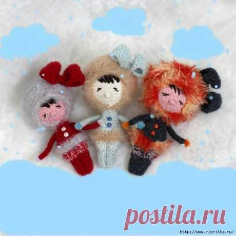 вязаная кукла - эскимоска