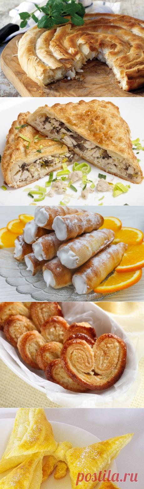 5 обалденных блюд из слоеного теста. Каждое — настоящая находка! | Четыре вкуса