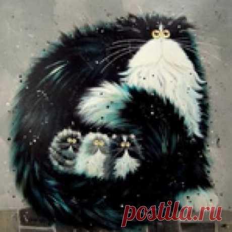 Коты от художницы из Англии Ким Хаскинс