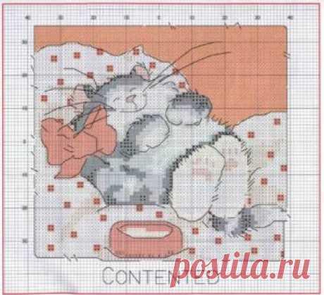 Схемы вышивки крестом: коты, кошечки, котята ~ Свое рукоделие