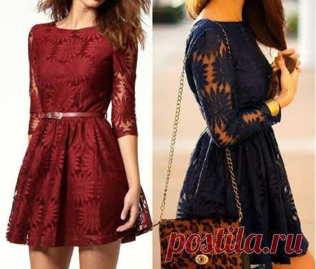 Мастера и умники: Выкройка красивого платья из кружева