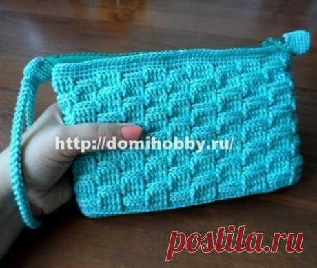 Вязание крючком сумочки клатч
