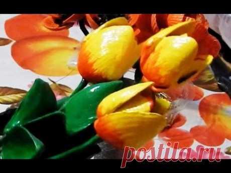 Поделки из ракушек Тюльпан