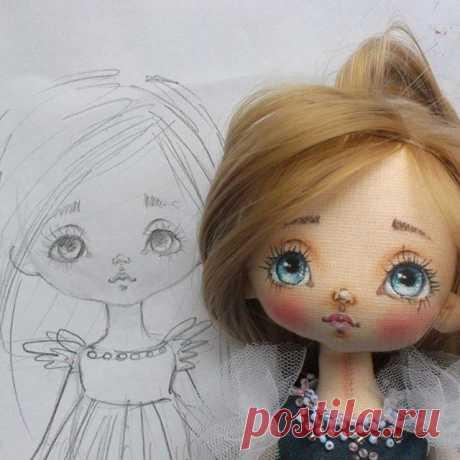 Моя новейшая куклена. выкройка и личико