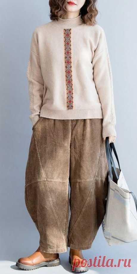 Топ-10 брюки бохо для зимы