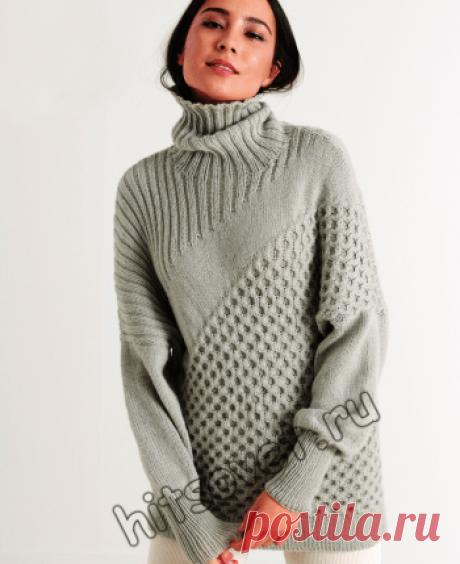 Как связать стильный женский свитер (Вязание спицами) – Журнал Вдохновение Рукодельницы