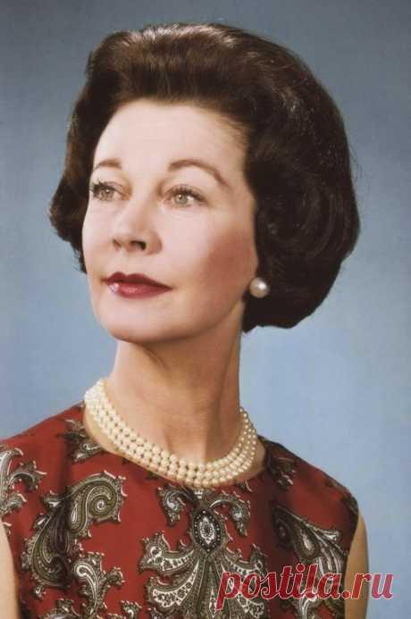 Последний портрет Вивьен Ли, сделанный в фотостудии, 1967 г.