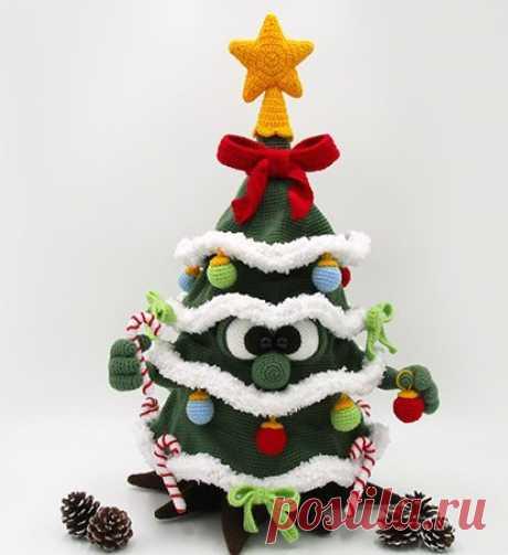 По многочисленным просьбам участников группы представлю Вам мой перевод Рождественской ёлочки DINEGURUMI. Вяжите от души и для души! #новыйгод