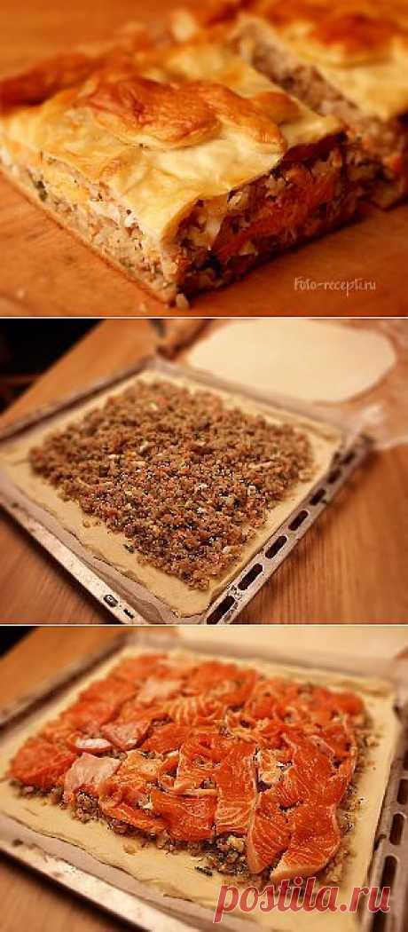Кулебяка с рыбой - Рецепты с фото пошагового приготовления на Фото-Рецепты. ру