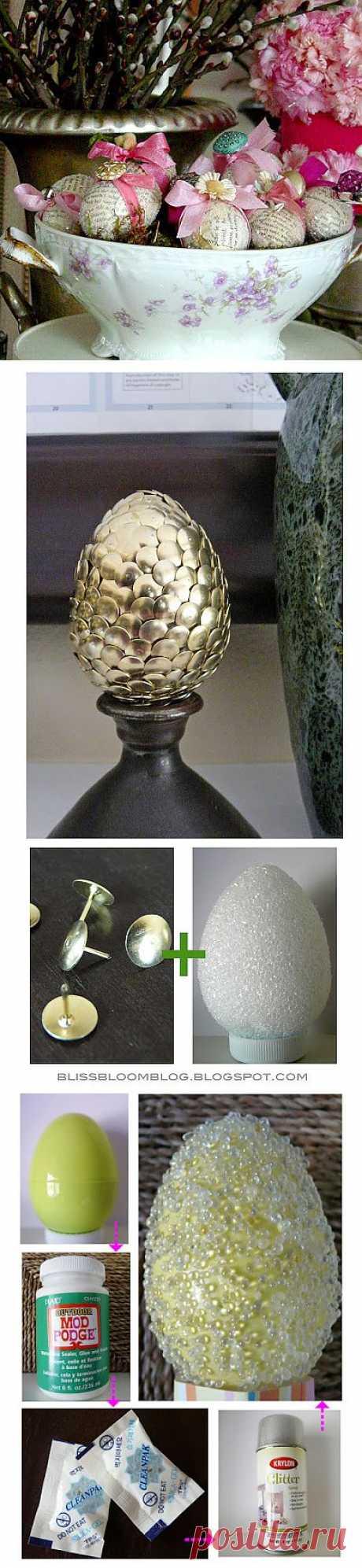 Декорируем пасхальные яйца..