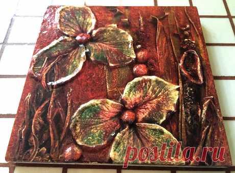 плитка керамическая ботаника, плитка с растениями, плитка ручной работы, плитка на фартук, плитка декоративная в ванную, плитка декоративная для кухни