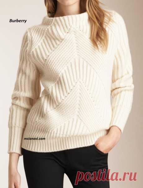 Вязаный свитер спицами   Вяжем с Лана Ви