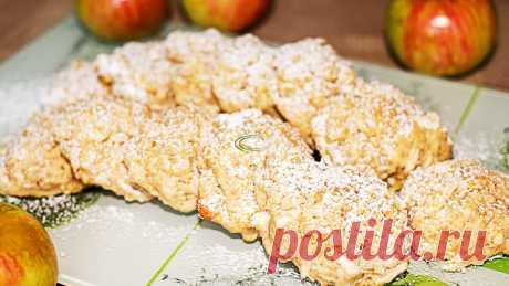Пока заваривается чай, я успеваю испечь яблочное овсяное печенье и даже теста руками не касаюсь | IrinaCooking | Яндекс Дзен