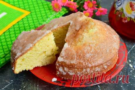 """Турецкий пирог """"Ревани"""" - нежный и воздушный Если вам надоела магазинная выпечка и хочется к чаю сделать что-то домашнее, тогда стоит приготовить оригинальный, мягкий и очень вкусный пирог Ревани."""