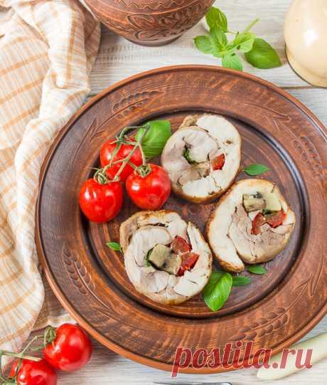 Рулет из курицы с грибами и перцем - проверенный пошаговый рецепт с фото на Вкусном Блоге