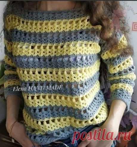 Симпатичный узор для пуловера