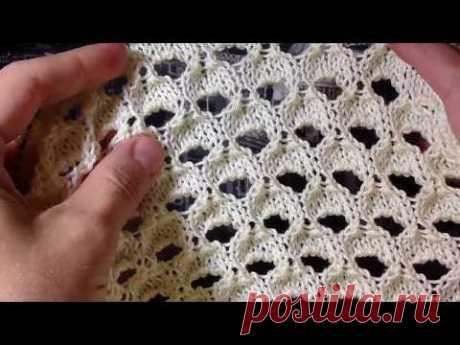 Модный узор спицами с эффектом рваного полотна