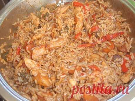 Рис с овощами и куриной грудкой. Маринкины творинки
