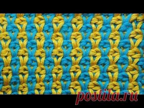 Узоры вязания крючком Tunisian crochet pattern 32