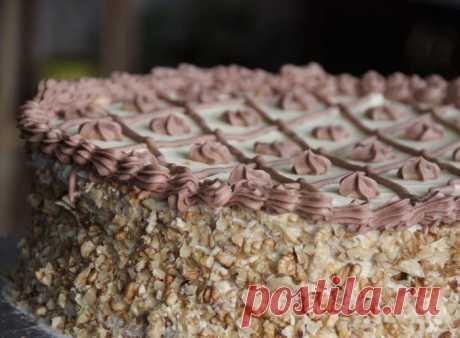 Шикарный торт «Апшерон» с орехово-безейными коржами и нежнейшим кремом