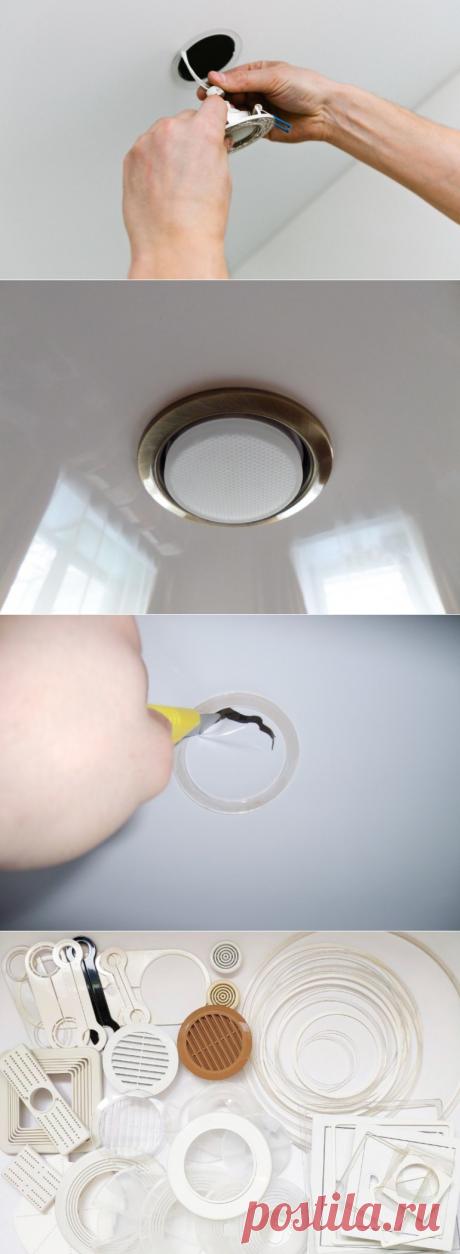 Как установить потолочные светильники и не испортить натяжное полотно? | Записки прораба 2.0