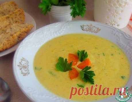 Кабачковый суп-пюре с плавленым сыром – кулинарный рецепт