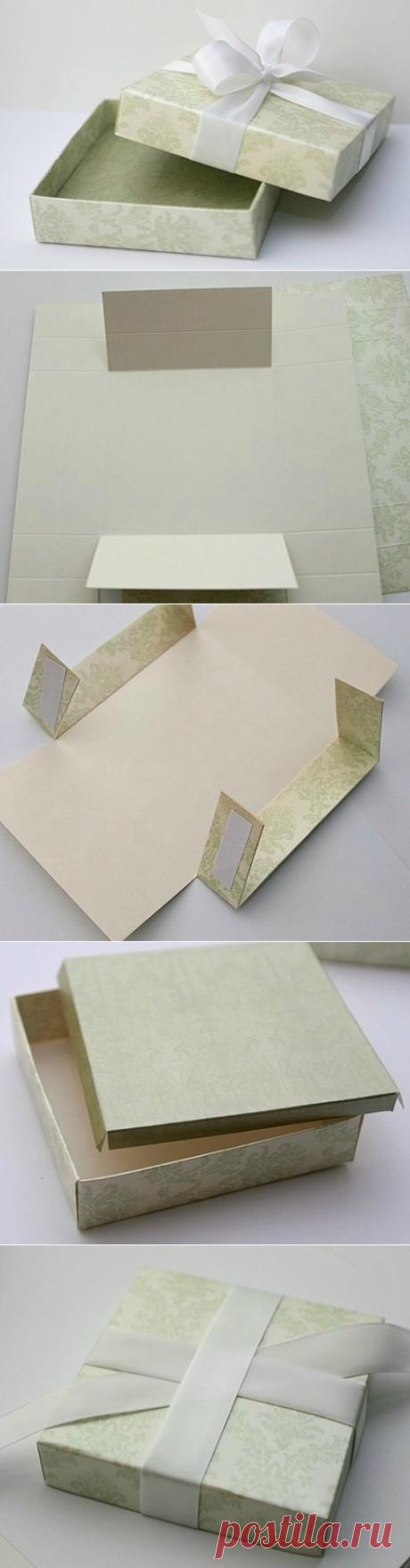 Коробочка с бантом для упаковки подарка