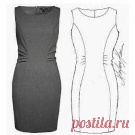 Выкройка платья футляр (Шитье и крой) Платье-футлярэто универсальная вещь, которая просто незаменима в женском гардеробе. Такоеплатье, хорошо посаженое по фигуре, выполненное из простой, но качественной ткани, способно выручить в оче…