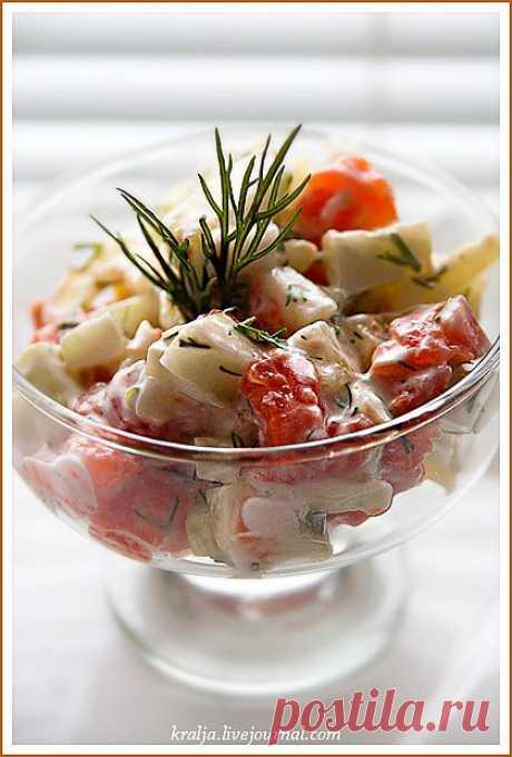 Низкокалорийный салат. Очень вкусно!