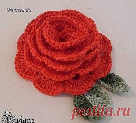 Роза крючком / Рукоделие