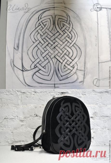 Создаем аппликацию из кожи по мотивам кельтского орнамента для украшения рюкзака - Ярмарка Мастеров - ручная работа, handmade