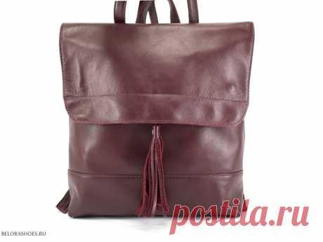 Сумка-рюкзак Жизель 2 Кожаный женский рюкзак среднего размера