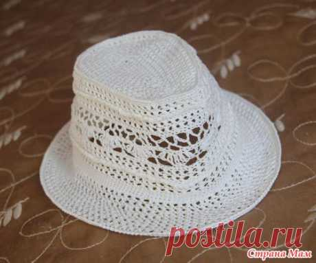 """Openwork hat """"Ванесса"""" - We knit together online - the Country of Mothers"""