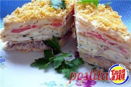 Вкусная салат-закуска Наполеон
