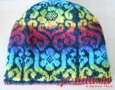 Жаккардовая шапочка - Вязание - Страна Мам