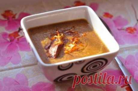 Вкусный крем-суп с печенью и грибами — Готовим дома
