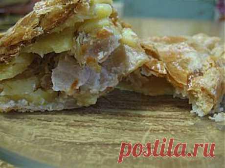 Слоеный пирог с картошкой и мясом | Кухарим