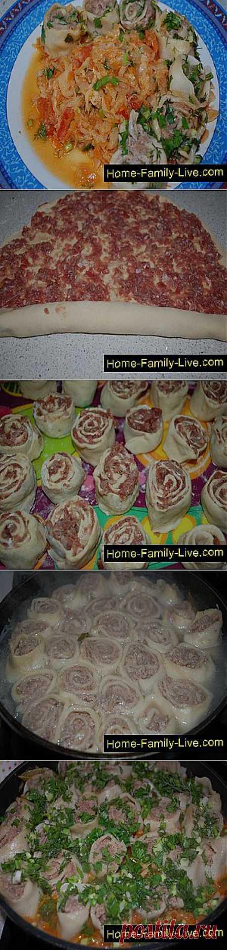 Кулинарные рецепты Мясные розочки с капустой » Кулинарные рецепты