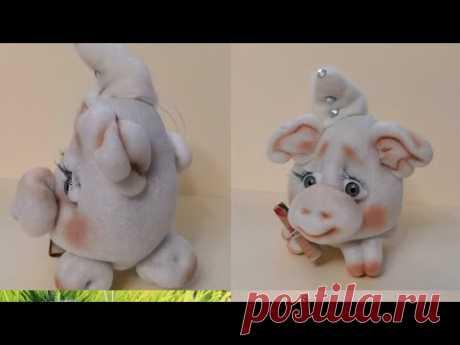 (9) Самая простая и симпатичная свинка из капрона! Мастер класс! - YouTube