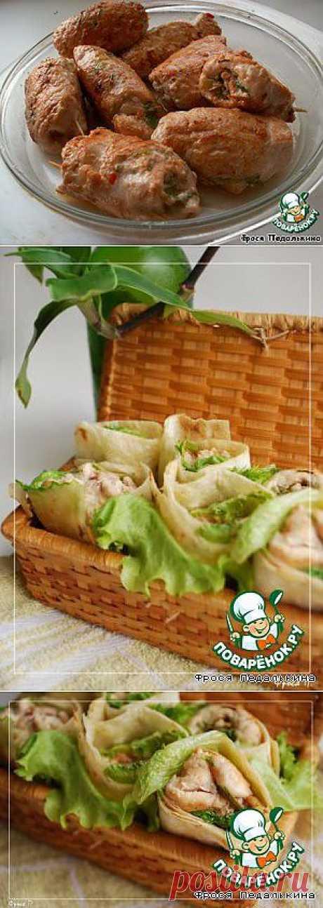 Куриные роллы на азиатский манер - кулинарный рецепт