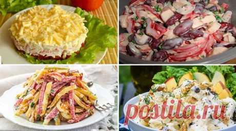 Отличная подборка из 10 самых вкусных и быстрых салатов!